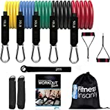 Resistance Band Set - Include 5 Stackable Exercise Bands with...