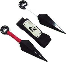 Hoja ninja Shinobi Village Konoha de Jebester, diadema para cosplay con accesorios de color rojo y blanco, ninja, Big Kunai, juguete de plástico