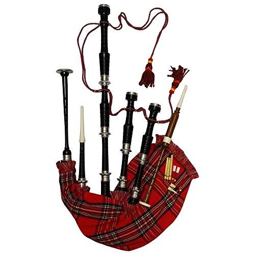 HW Scottish Great Highland Bagpipe Silver Mounts Various Colours Black...