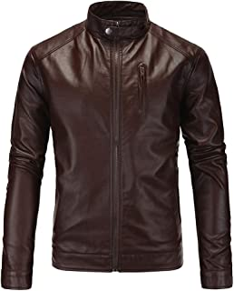 Mature Man Classic Zip Up Leather Jacket
