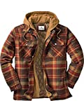 Legendary Whitetails Men's Maplewood Hooded Shirt Jacket (XX-Large Tall, Maplewood Brown Plaid)