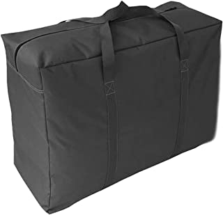 Extra Large Over-sized Handy Storage Bag Waterproof Heavy Duty Oxford Travel Luggage Caddy Organizer Quilt Blanket Duvet Reusable Laundry Bag Weekender Duffel Space Saver Storage Bag with Web Handles