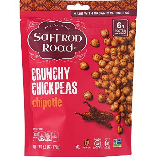 Saffron Road Organic Crunchy Chickpeas, Non-GMO, Gluten-Free, Halal, Chipotle, 6 Ounce