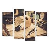 islandburner, Quadro moderno Accessori da barba nel negozio di barbiere Stampa su Stampa su tela Quadro JLX-IT
