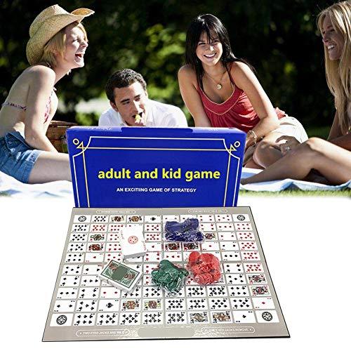 Fiaoen Sequence Brettspiel, Sequence Tin Family Version Brettspiel Sequence Game Family Schachspiel Englisch Und Arabisch Spielzeug Schachspiel Generous