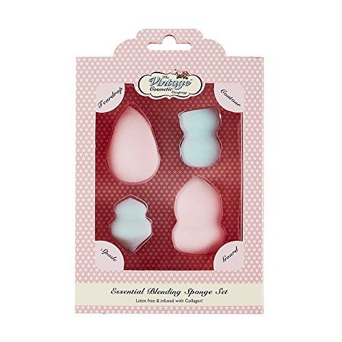 The Vintage Cosmetic Company Mixer Lot Infusé avec collagène en rose et bleu