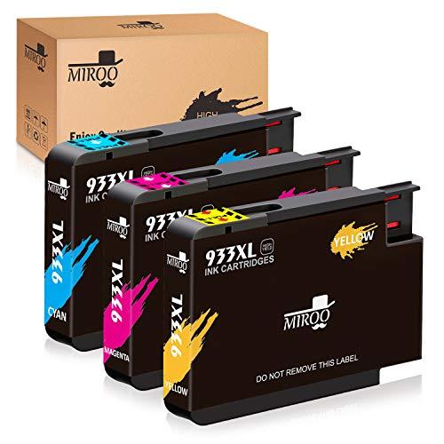 MIROO Replacement Ink Cartridge Replacement for HP 933 6600 7610 7612 6100 6700 7110 ( Cyan, Magenta, Yellow , 3 pk )