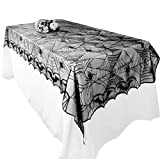 Awtlife Ragnatela Gotico Pizzo tovaglia per Halloween Party Decor 121,9 x 243,8 cm