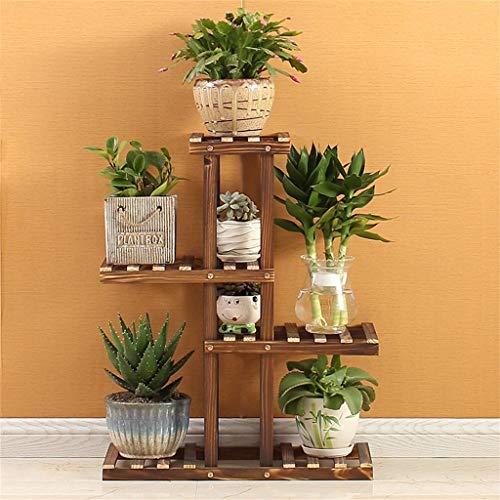ChenDz Support à fleurs Support à pots de fleurs en bois de pin/Étagères multicouches pour supports à 6 étages de support pour fleurs (Color : A)