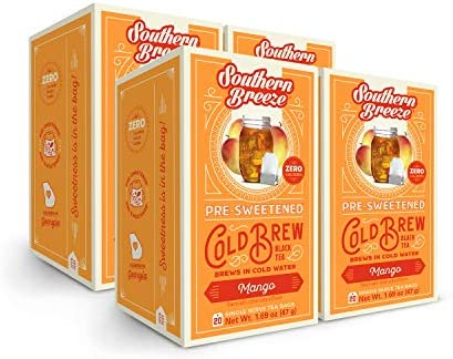 Southern Breeze Cold Brew Mango Sweet Tea with Zero Calorie 20 Count Pack of 4 product image