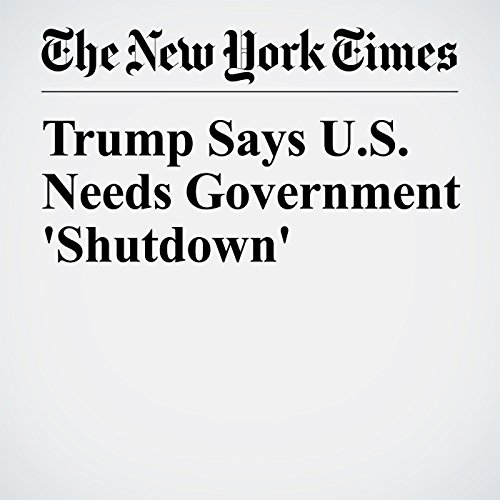 Trump Says U.S. Needs Government 'Shutdown' copertina