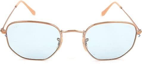 Ray-Ban RB3548N Hexagonal Evolve Photochromic Flat Lenses Sunglasses, Copper/Light Blue Photochromic, 54 mm