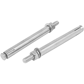 uxcell M10 x 150mm 304 Stainless Steel Sleeve Anchor Hex Nut Expansion Bolt 2PCS
