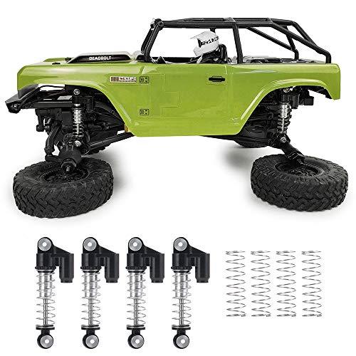 XUNJIAJIE 4 amortiguadores de radiocontrol, absorción de impactos, amortiguadores para 1:24 axial SCX24 AXI90081 RC Crawler Car Upgrades accesorios