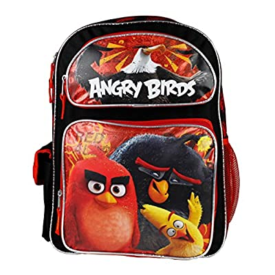 """2016 New Angry Birds 16"""" Canvas RED School Backpack"""