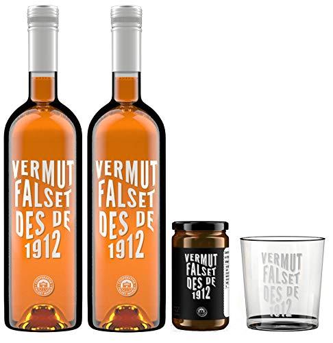 pack 2 x Vermut Falset des de 1912 + Aceitunas arbequinas +...