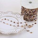 tggh Cadena para hacer material de bricolaje de 50 cm de 18 quilates chapado en oro de cristal, cadena hecha a mano para pulseras, collares y joyas (color 03)