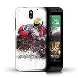 Stuff4 Coque de Coque pour HTC Desire 610 / Croquis de Moto Design/Fragments Collection