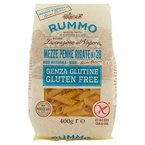 Rummo Pasta Mezze Penne Rigate, senza Glutine, N 28, 400g