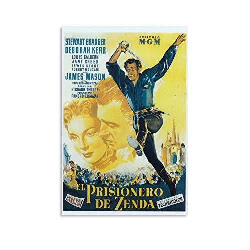 The Prisoner of Zenda 1952 Poster classico del cinema su tela, decorazione per la casa, poster vintage per soggiorno, parete estetica, 30 x 45 cm