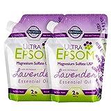 SaltWorks Ultra Epsom Premium Scented Epsom Salt, Lavender Bundle, 4 Pounds