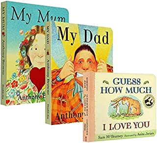 3 Board Books/set Guess How Much I Love You, My Dad, My Mum English Story Coloring Cardboard Books for Kids Learning Toys