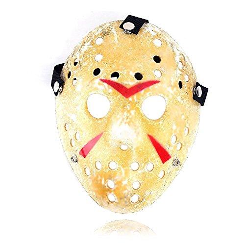 Naisicatar Halloween Jason Maske Goldweinlese Jason Voorhees Freddy Hockey Festival Halloween-Maskerade-Partei Spannende Festival Maske