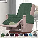 RHF Reversible Oversized Recliner Cover&Oversized Recliner Chair Covers,Slipcovers for Recliner, Oversized Chair Covers,Pet Cover for Recliner,Machine Washable (XRecliner: Huntergreen/Sage)