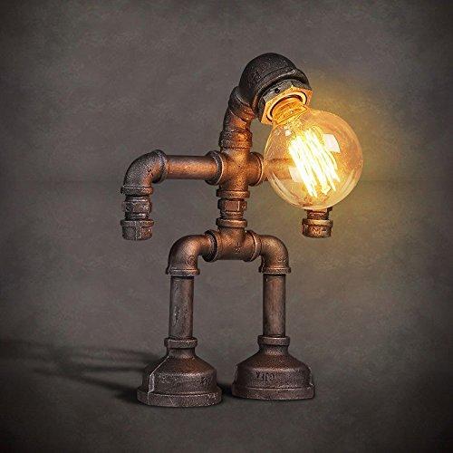 ZWL Lampe à eau rétro, Lampe au fer à repasser au fer Lampe au café au restaurant Lampe créative Nostalgique E27 23 * 30CM fashion.z (taille : 23 * 30CM)