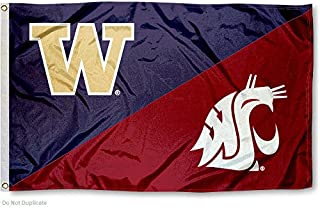 College Flags and Banners Co. Washington State vs. UW House Divided 3x5 Flag