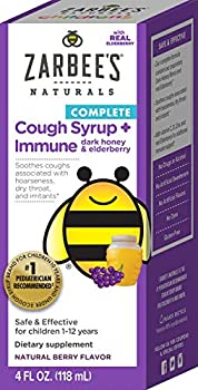 Zarbee s Naturals Children s Complete Daytime Cough Syrup* + Immune Berry Flavor 4 Ounce Bottle