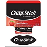 ChapStick Classic (Strawberry Flavor, 0.15 Ounce) Lip Balm Tube, Skin Protectant, Lip Care
