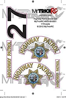 Genuine MyTrickRC CHP Sticker Set