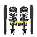 Front Complete Strut Assemblies & Rear Bare Shock Absorbers Fits 2001-2002 Acura MDX (Set of 4)