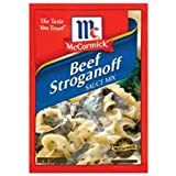 McCormick Beef Stroganoff Seasoning Sauce Mix, 1.5oz Packet (Pack of 3)