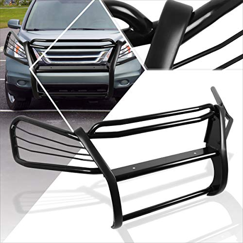 Compatible with Honda CRV RE SUV 07-11 Front Bumper Brush Grille Guard Protector Coated Black