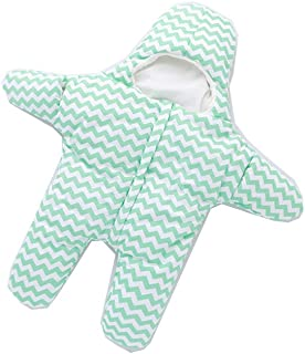 Plush Premium Cotton Baby Sleeping Sack Nest Bag For Ages (0-18 Months) (Size: 41.3 x 21.6 Inch, Seastar Waffle Green)