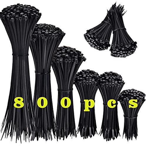 800 Piezas Bridas de Plastico para Cables, Bridas...