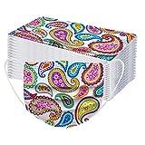 RUITOTP 10/20/50/100 pc Unisex Erwachsene Gesichtsschutz Frauen Männer Universal 3 Schicht Mode gedruckt niedlich elastische Earloop Bandanas Schal-56