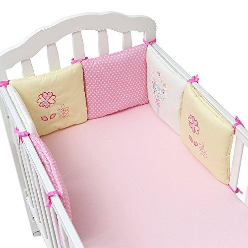 Innovation ey 6 stuks een set babybed bumpers katoen pluche veiligheid kleine kinderen kleuterschool bedding bescherming