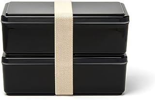 GEL-COOL ランチボックス 保冷剤一体型 スクエア メンズ ブラック 0101-0052