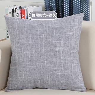YYBF Sólido sofá Cintura cojín Almohada Decorada Tirante Almohada para el hogar 550 mm x 550 mm 11