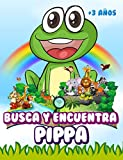 Busca y encuentra Pippa: Libro de juegos para niños - Ilustraciones en color - 300 animales - A partir de 3 años