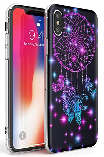 Midnight Dream Catcher Phone Case For Iphone X Iphone Xs Iphone 10 Clear Ultra Slim Lightweight Gel Silicone Tpu Protective Cover Lotus Dream
