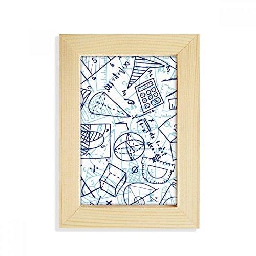 DIYthinker Math handbeschilderde liniaal, voor rekenmachine, bureau, van hout, fotolijst, 5 x 7 inch, geschikt voor 10,2 x 15,2 cm, foto's meerkleurig