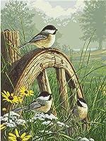 デジタル絵画油絵鳥デジタルキット大人初心者子供リネンキャンバスデジタル油絵キャンバス壁画アートワーク