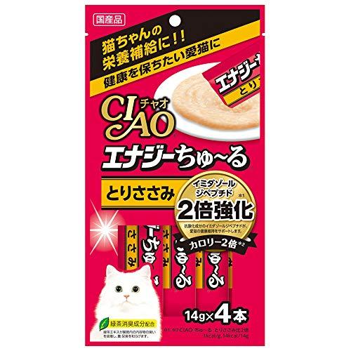 チャオ (CIAO) CIAOちゅーる エナジーちゅ~る とりささみ 14g×4本