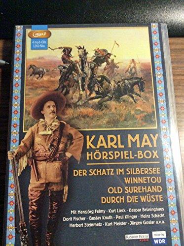 Karl May - Hörspiel-Box: Der Schatz im Silbersee - Winnetou - Old Surehand - Durch die Wüste (4 MP3 CD`s)