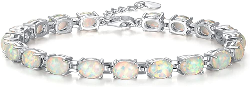 CiNily Safety and trust All items free shipping Rhodium Plated Fire Opal Gemst Wedding Gift Jewelry Women