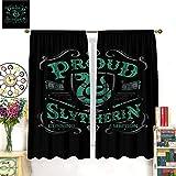 Cortinas para ventana del sótano Harry Potter Slytherin para oscurecer la habitación de 214 x 214 cm